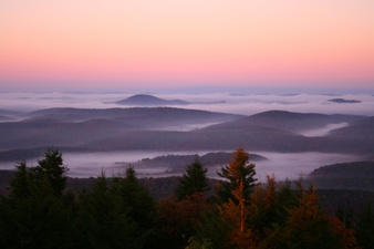 Spruce Knob Morning Fall Red Sky