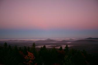 Spruce Knob Morning Sky Fall Trees