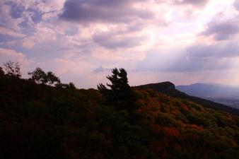 North Fork Mountain Sun Ray Shine Fall Foliage