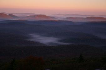 Spruce Knob Morning Autumn Valley