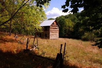 Fall Field Old Farm House