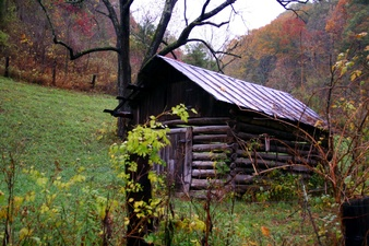 Fall Old Country Shed