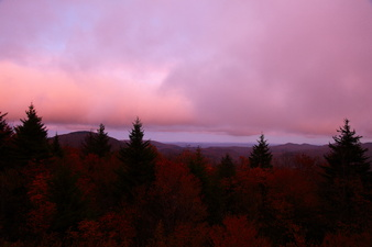 Fall Foliage Mountain Sunset