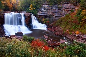 Scenic Fall Foliage Waterfalls