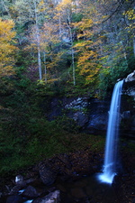 High Autumn Waterfalls Fall Foliage