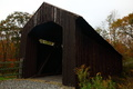 Old Fashioned Country Covered Bridge Autumn Foliage