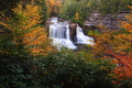 Waterfall Autumn Foliage Scenery